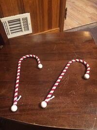 2 candy canes stocking holders both for 5.00 Henrico, 23231