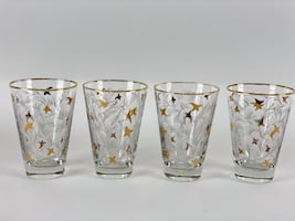 Set of 8 Mid Century Modern Glass Tumblers