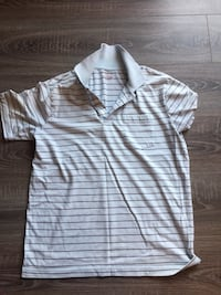 white and gray striped polo shirt Bethesda, 20814