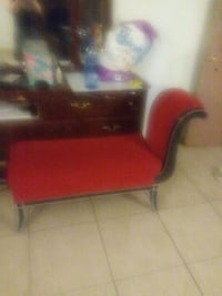 red and black leather sofa chair Las Vegas, 89107