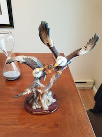 two ceramic bald eagle figurine