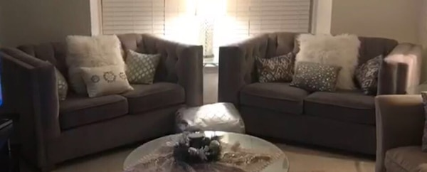 2 gray loveseat new 2 months old