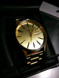 "NIXON gold ""SENTRY SS"" men's watch MINT! Vancouver, 98664"