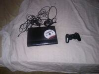 black Sony PS3 slim console with controller North Las Vegas, 89081