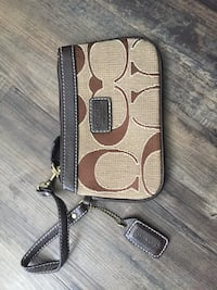 brown and black Coach monogram wallet Airdrie, T4B 1K6