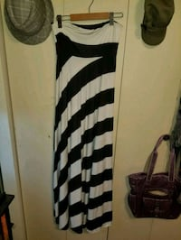 Black and white long strapless dress Edmonton, T6C