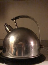 gray stainless steel kettle with lid Denver, 80211