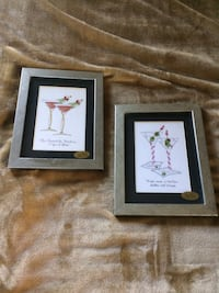 2 Silver Framed Martini Pictures  Hampton, 23663