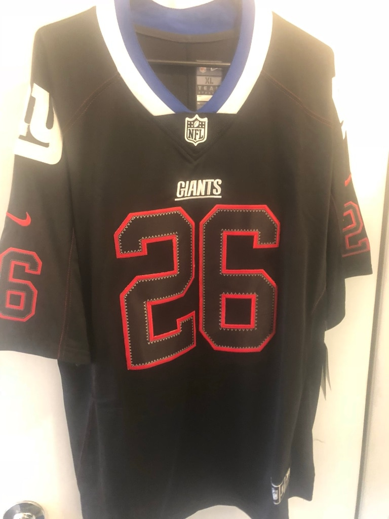 black and red ny giants jersey