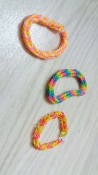 Lot de 3 bracelets Rainbow Loom