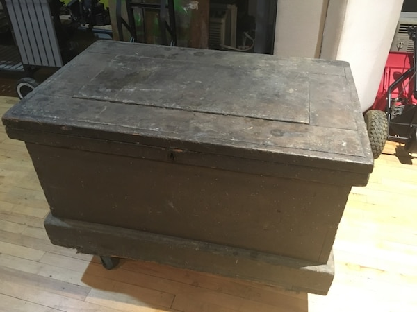 Large Antique Wood Tool Box