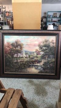 Large Framed Country Picture