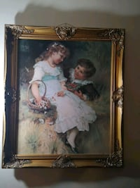 Fred Morgan painting signed and framed