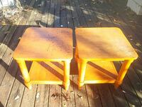 two brown wooden side tables Harriman, 37748