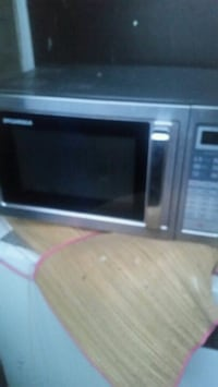 black and gray microwave oven Toronto, M4C 5L7