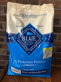 New Unopened Blue Adult dog Food.  Willing to trade for Plants