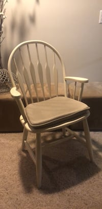 White wooden framed gray padded rocking chair Leesburg, 20176