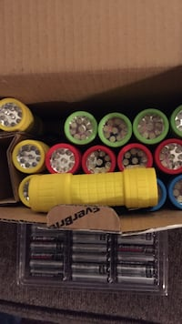 yellow, green, red, and blue flashlight lot Independence, 64057