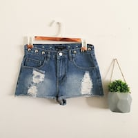 Forever21: Distressed studded shorts  Los Angeles, 91402