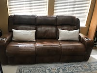 Leather power reclining sofa and loveseat. Sunnyvale, 94089