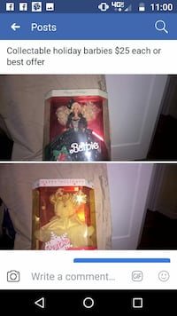 two Barbie Doll in box photo collage Troy, 45373
