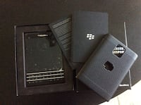 Black Blackberry Passport new condition with box and cables factory unlocked Toronto, M9R 2S5