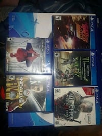 four assorted PS4 game cases Gaylord, 49735