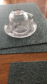 glass  and plate