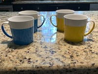 Set of 4 Crate and Barrel Mugs. Centreville, 20121
