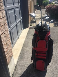 Men's golf clubs and bag good condition left handed, brand name Tungst