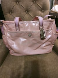 women's pink leather tote bag Charlotte, 28212