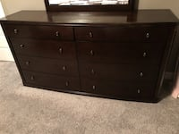 brown wooden 6-drawer lowboy dresser 3153 km