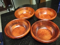 new set of 4 wooden bowls,1277 Mississauga