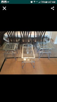 two gray metal base glass top tables Woodbridge, 22191