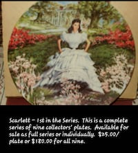 women in white dress printed decorative plate