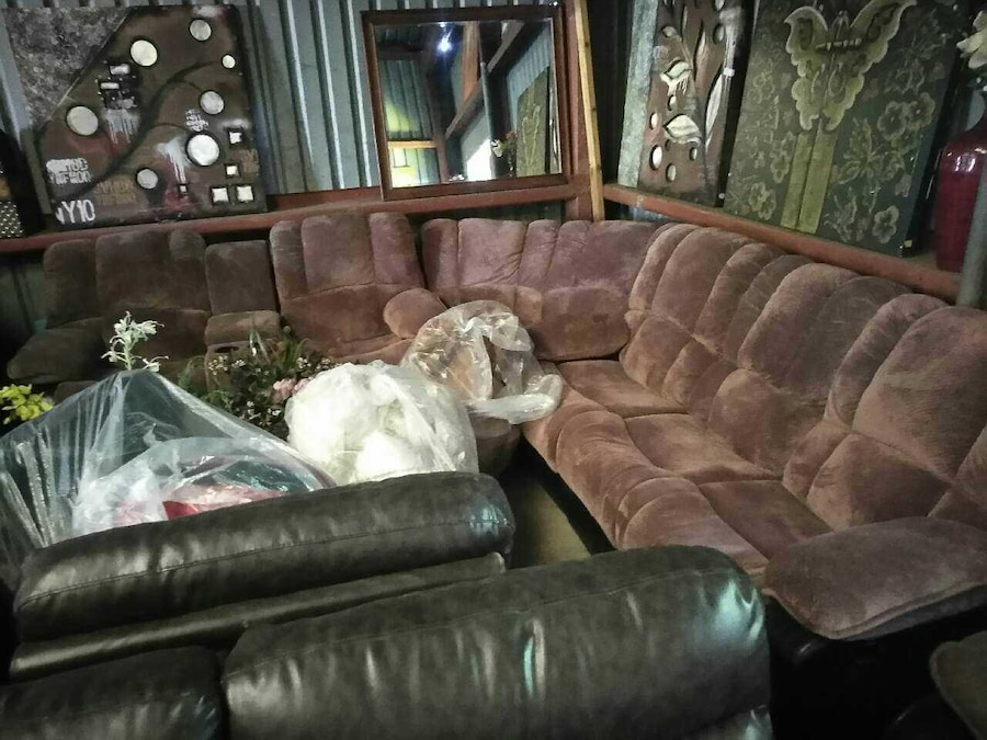 Used gray sectional sofa and throw pillows in Corpus Christi