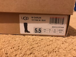 Women's black leather Ugg boots size 5.5