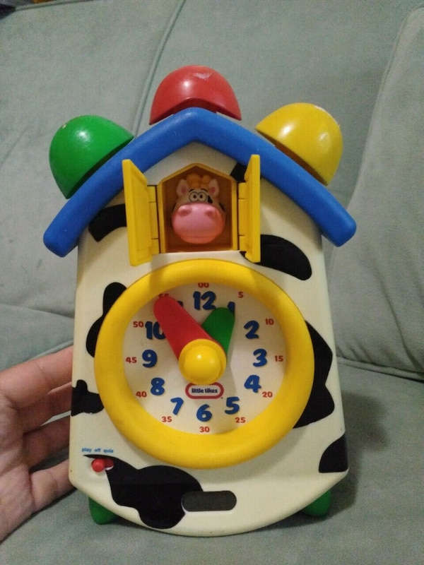 Little Tikes cow musical clock