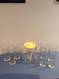 Drink Pitcher and 6 Beer  Glasses Vaughan, L4H 2G3