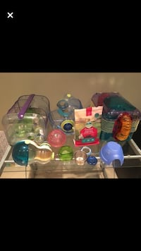 Selling two hamster cages and a bunch of accessories.  Georgetown, L7G 6M8