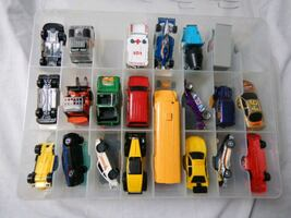 48 Assorted Toy Cars with Case