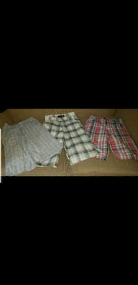 two white and red plaid shorts Sevierville, 37876