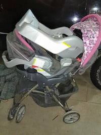 gray and pink stroller combo Sheldon, 51201