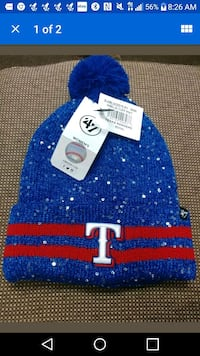 47' brand texas rangers winter pin beanie