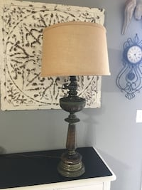 "Heavy solid old 3 way Lamp 34"" tall 1944 mi"