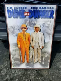 Vintage 1994 Dumb and Dumber movie poster
