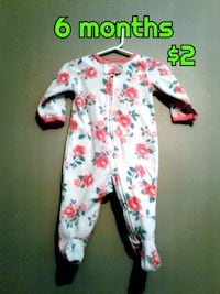 baby's white and red floral footie pajama Calgary, T3B 0T3
