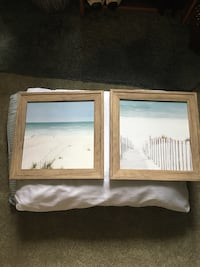 Wooden framed beach pictures (2) Old Monroe, 63369