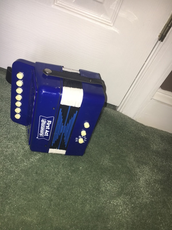 Blue first act accordion
