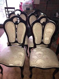 two black and white leather padded chairs Ontario, L3Z 2A6